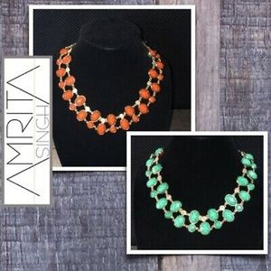 Amrita Singh Reversible Turquoise Coral Necklace